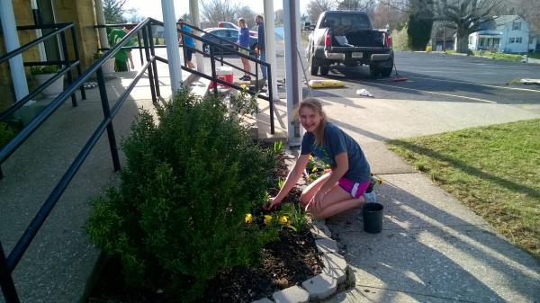 Stella Hubert is a natural gardener!