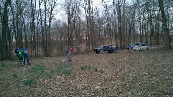 Cleanup at the old cemetary