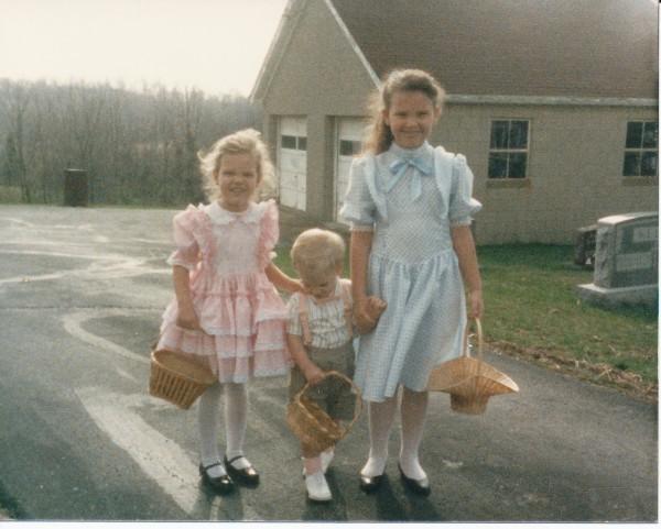 Ash, Melissa & Jordan at Easter Egg Hunt