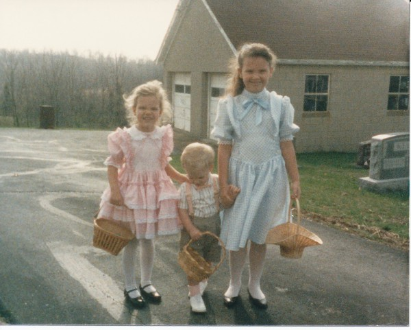 Ash, Melissa & Jordan at Easter Egg Hunt
