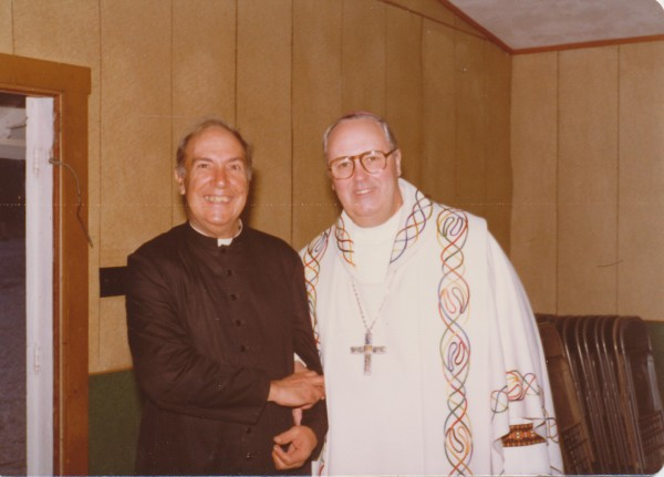 Father Diezeman with Archbishop O'Meara