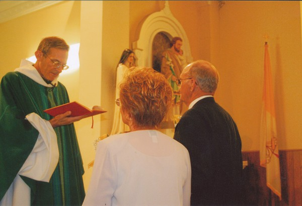 Father Guy Blessing Bill & Eva