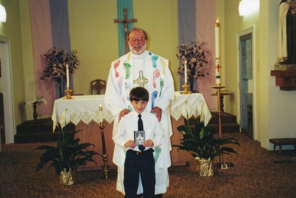 Father John with Jonathan Flamion