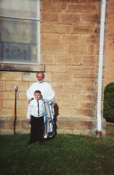 Timothy Kloeppel with Father John