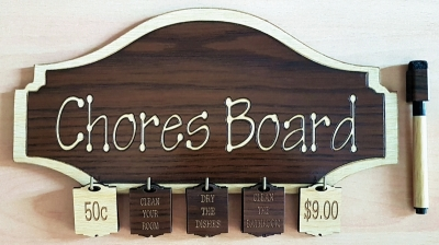 Wooden Chores Board