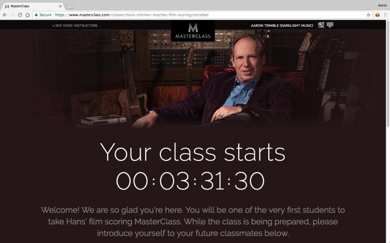 Hans Zimmer Master Class - Pre-Class Review