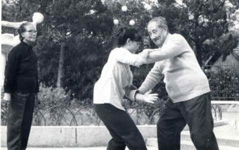 Shi Mei Lin push hands with Ma Yue Liang