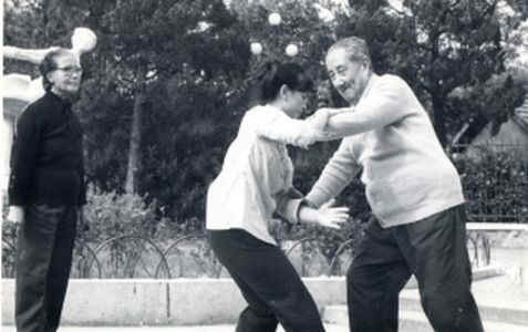 Shi Mei Lin push hands with Ma Yue Liang