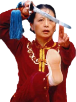 Shi Mei Lin performs tai chi sword