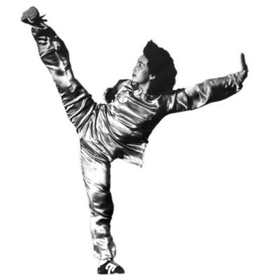 Shi Mei Lin demonstrates  Kung Fu Kick