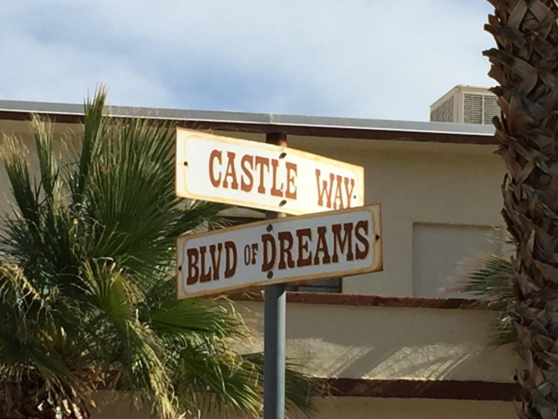 Castle Way & Blvd of Dreams, Zzyxx Rd