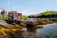 Lighthouse, Dock, Shed, Water, Island, Newfoundland