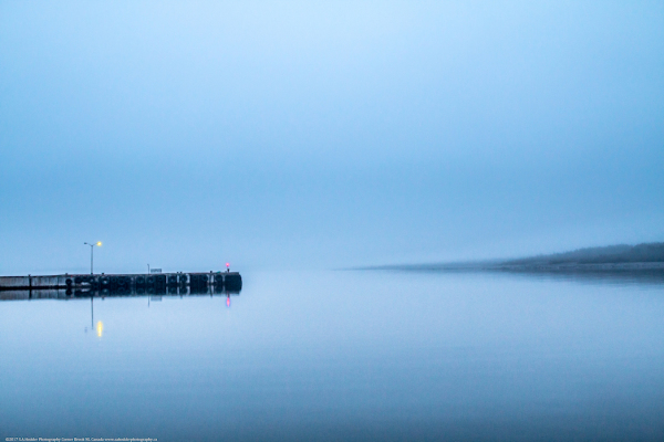 Fog, Water, Reflection, Pier, Lights