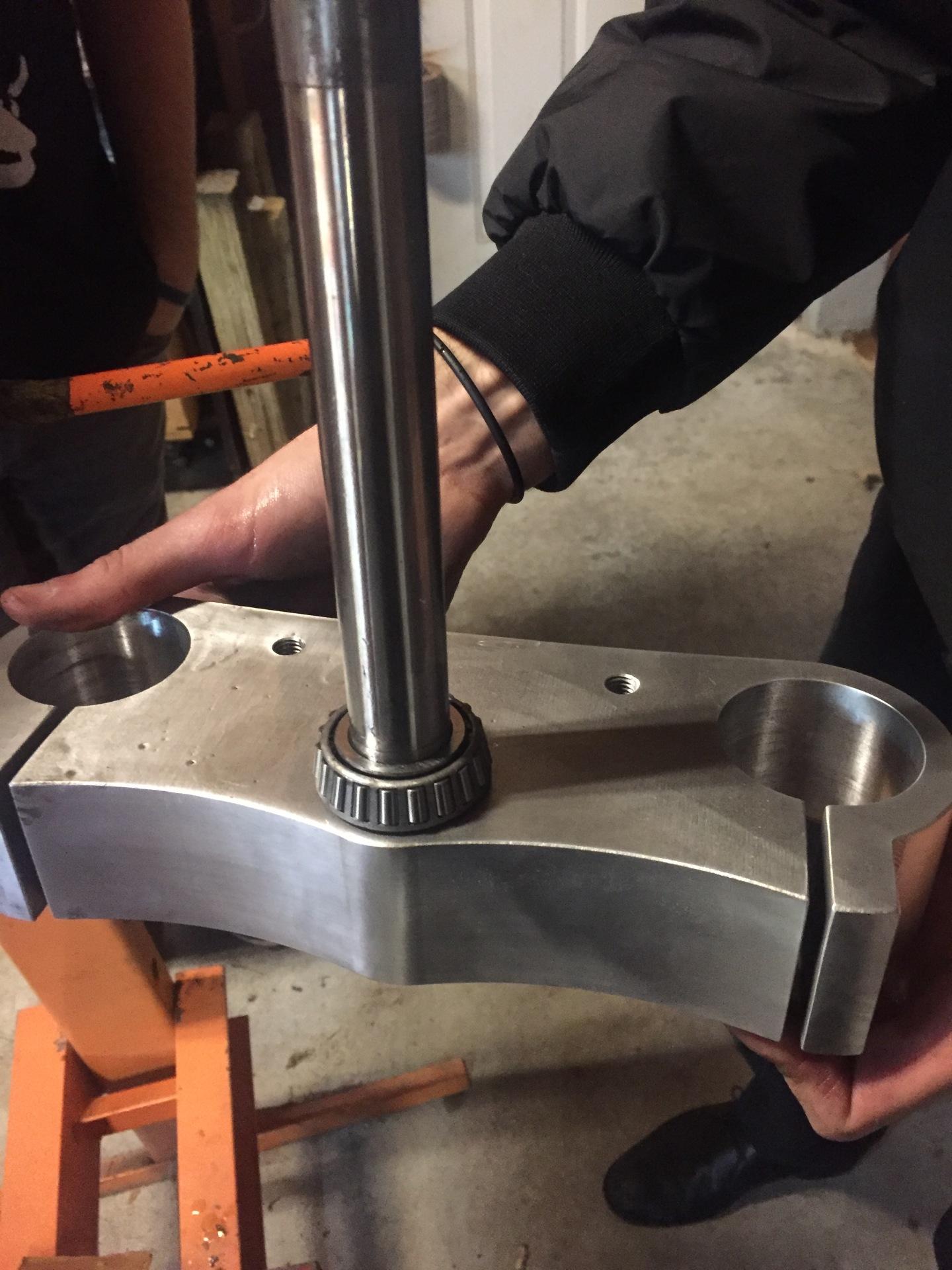 New Bearings Pressed On