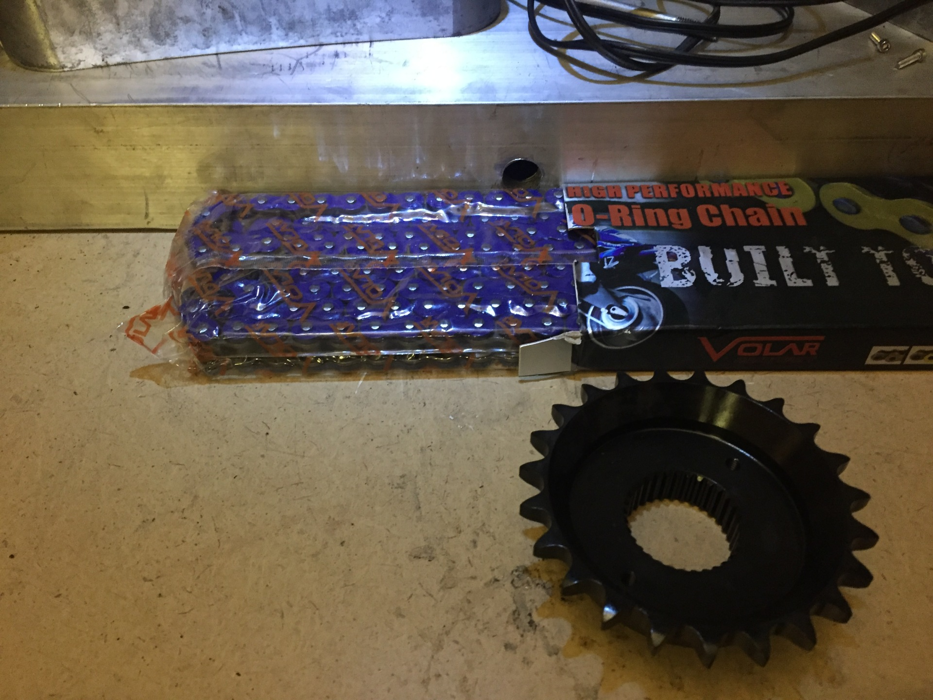 New Chain and Drive Sprocket