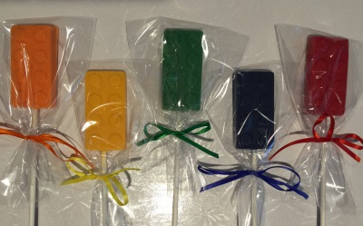 Building Block Lollipops