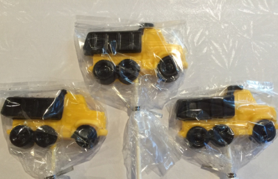 Dump Truck Lollipops