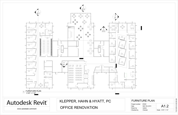 office design, furniture plan