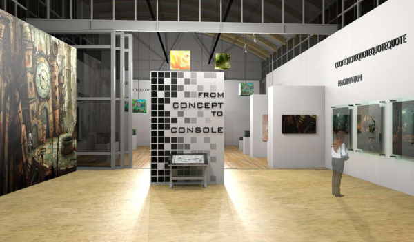 Exhibit design, gallery design, art gallery design