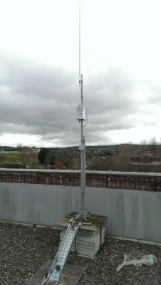 LoRa Network Sensors installed throughout E2District's CIT Testbed