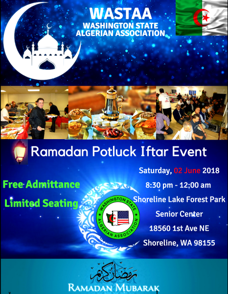 Ramadan Potluck Iftar Event - 2018