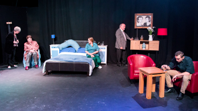 Kassie (Jeanette Hunter), Gabriel (Richard Easterbrook), Alma (Rosy Rowley), Conrad (Paul Baxter) and Ryan (Stu Freestone)