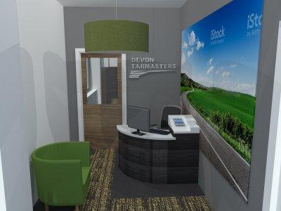 Office reception interior