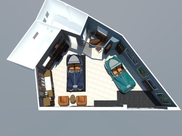 Morgan showroom 3D plan