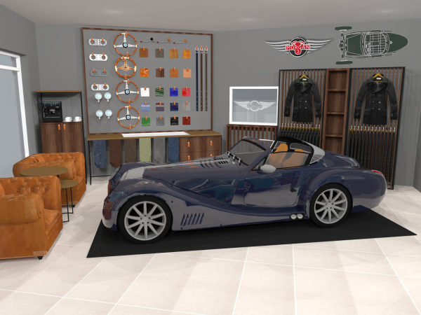 Morgan showroom design