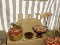 personalised candy/sweet cart