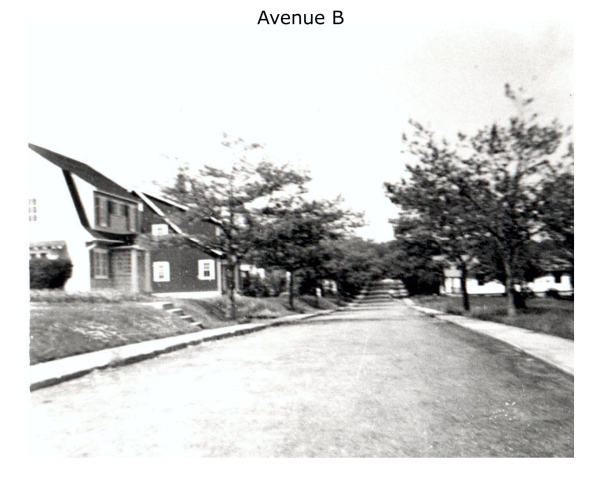Imperoyal Village Avenue B, Woodside, family photos taken 1950s