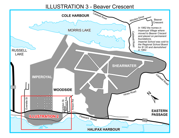map of the Caldwell Road area and Beaver Crescent Dartmouth NS