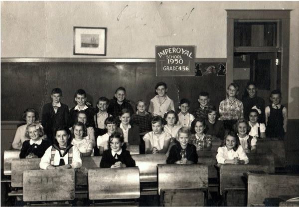 Imperoyal School Woodside NS grades 3, 4 ,5 in 1950