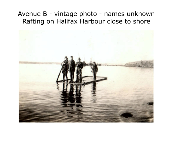 rafting on Halifax Harbour, vintage photo, date unknown