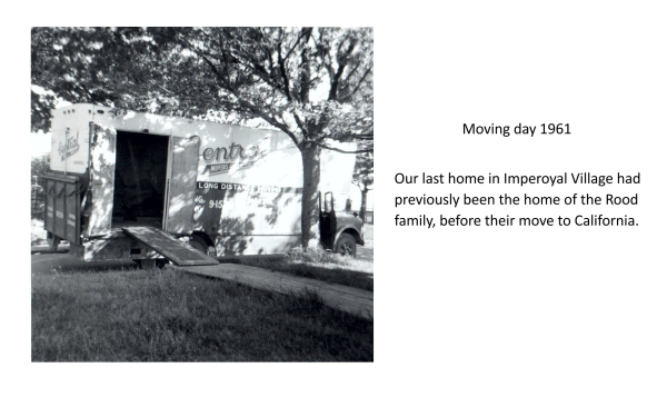 Woodside Imperoyal Village Moving day 1961