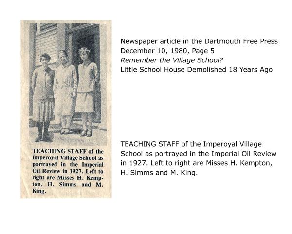 Dartmouth Free Press newpaper article dated December 10, 1980