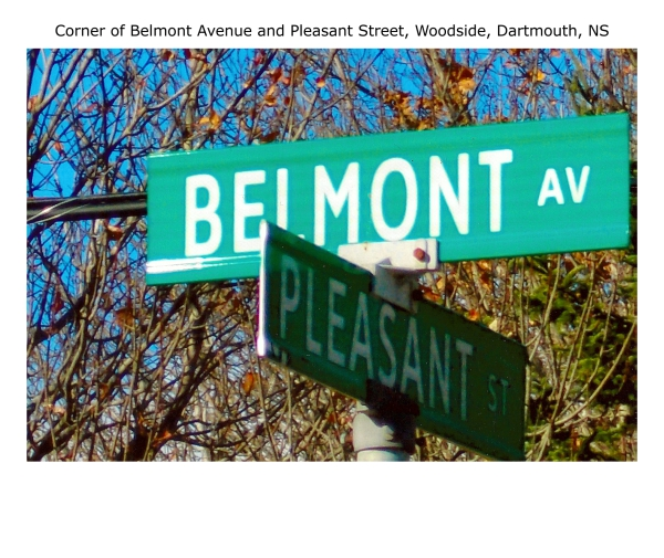 corner of Belmont Avenue and Pleasant Street Woodside Dartmouth NS