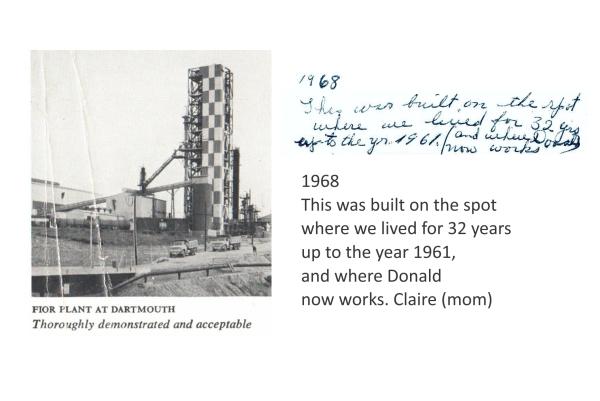 FIOR plant Imperial Oil Refinery Dartmouth 1968