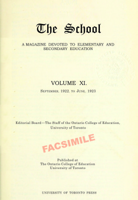 THE SCHOOL A Magazine Devoted to Elementary and Secondary Education 1923 v11 - excerpt from page 278