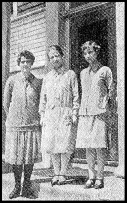 MPEROYAL TEACHERS -  Left to right - Misses Harriet Kempton, H. Simms and Margaret King