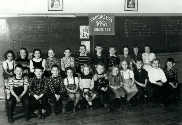 Imperoyal School Woodside NS grades 1, 2, 3 in 1950