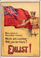 Canadian recruitment poster first world war