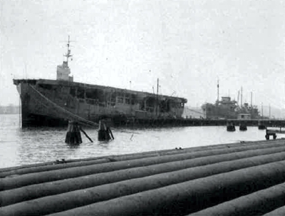The secret ships which kept oil in their holds and aircraft on an upper flight deck