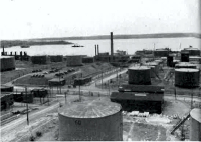 during WW2 the Halifax Refinery of Imperial Oil Limited roughly doubled its total production.
