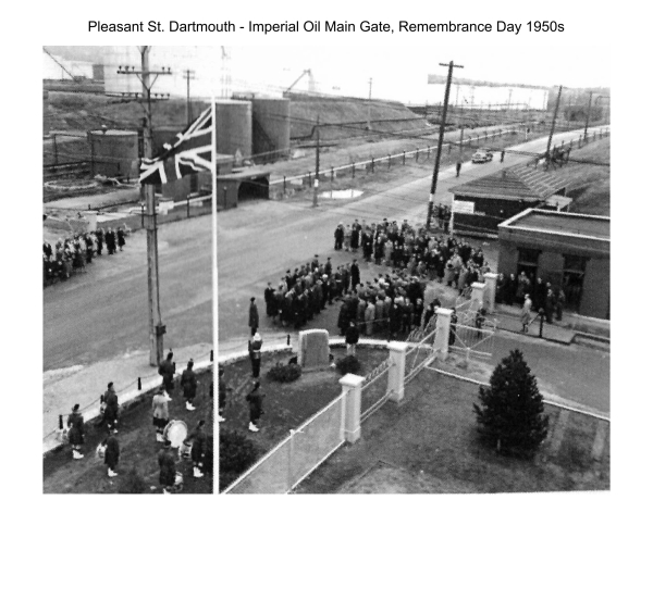 Pleasant St. Dartmouth - Imperial Oil Remembrance Day 1950s