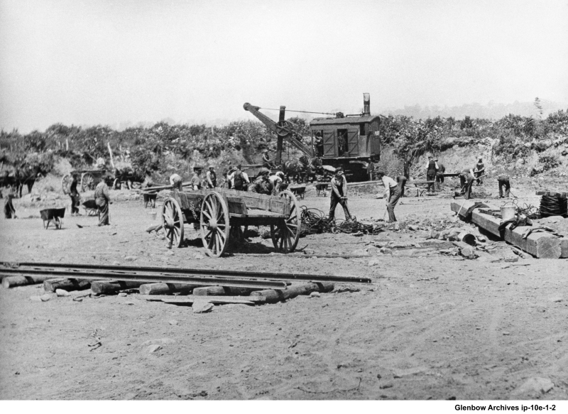 clearing land for more storage tanks 1919