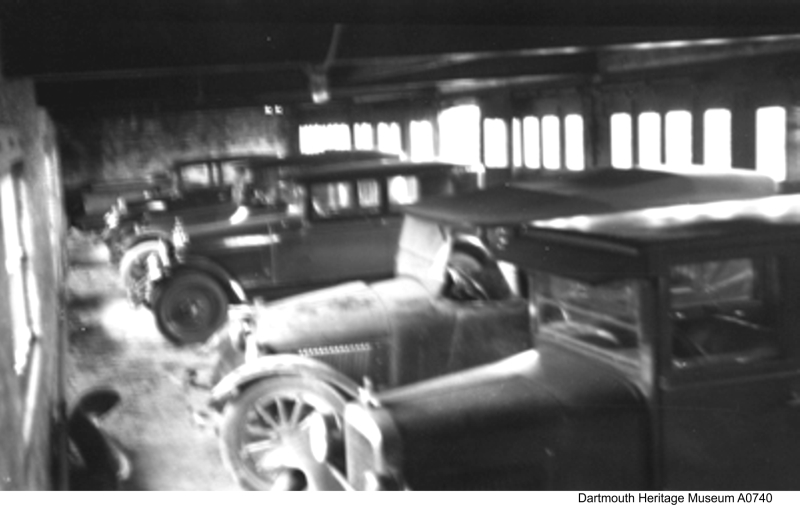 garage at Imperial Oil's Imperoyal Refinery in Dartmouth 1920s