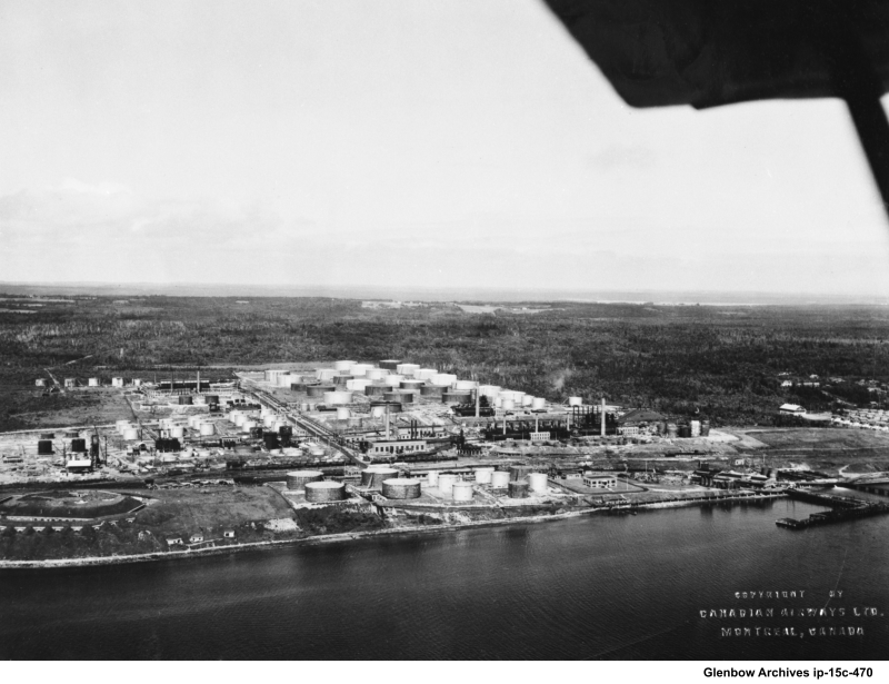 aerial view Imperoyal Oil Refinery 1930s