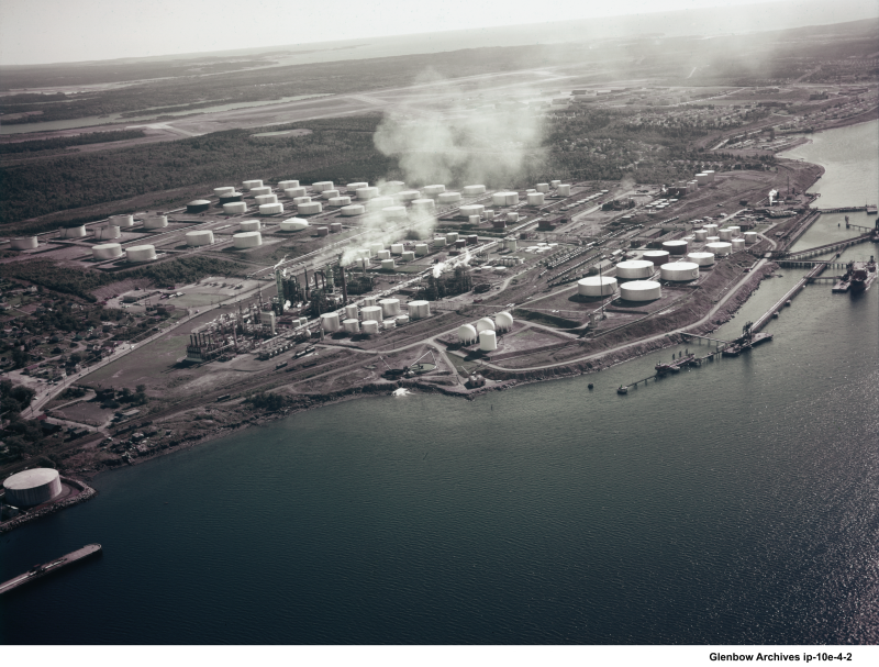 aerial view of Dartmouth Imperial Oil Refinery 1961