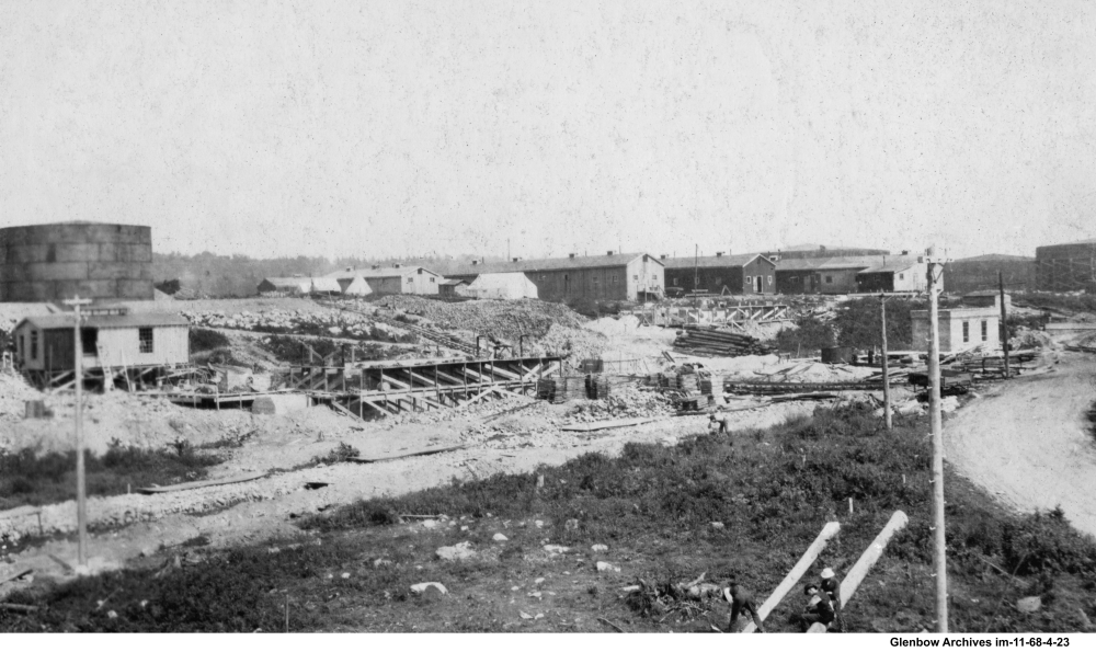 Temporary housing for construction workers building the Imperial Oil refinery in Dartmouth,  July to August 1917